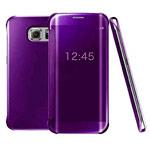 Чехол Yotrix FlipWallet case для Samsung Galaxy S6 edge SM-G925 (фиолетовый, пластиковый)