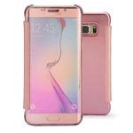 Чехол Yotrix FlipWallet case для Samsung Galaxy S6 edge plus SM-G928 (розовый, пластиковый)