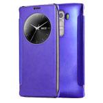 Чехол Yotrix FlipWallet case для LG G4 F500 (фиолетовый, пластиковый)