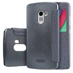 Чехол Nillkin Sparkle Leather Case для Lenovo Vibe X3 lite (темно-серый, винилискожа)