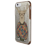 Чехол X-doria Revel Case для Apple iPhone 6S (Hipster Deer, пластиковый)