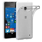 Чехол Yotrix UltrathinCase для Microsoft Lumia 550 (серый, гелевый)