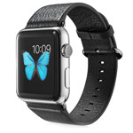 Ремешок для часов G-Case Genuine Leather Band для Apple Watch (42 мм, черный, кожаный)