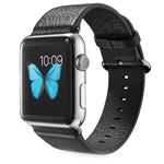Ремешок для часов G-Case Genuine Leather Band для Apple Watch (38 мм, черный, кожаный)