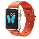 Ремешок для часов G-Case Genuine Leather Band для Apple Watch (38 мм, оранжевый, кожаный)