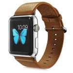 Ремешок для часов G-Case Genuine Leather Band для Apple Watch (38 мм, коричневый, кожаный)