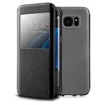 Чехол G-Case Classic Series для Samsung Galaxy S7 edge (черный, кожаный)