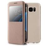 Чехол G-Case Classic Series для Samsung Galaxy S7 edge (золотистый, кожаный)