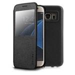 Чехол G-Case Classic Series для Samsung Galaxy S7 (черный, кожаный)