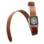 Ремешок для часов Synapse Double Tour Band для Apple Watch (42 мм, коричневый, кожаный)