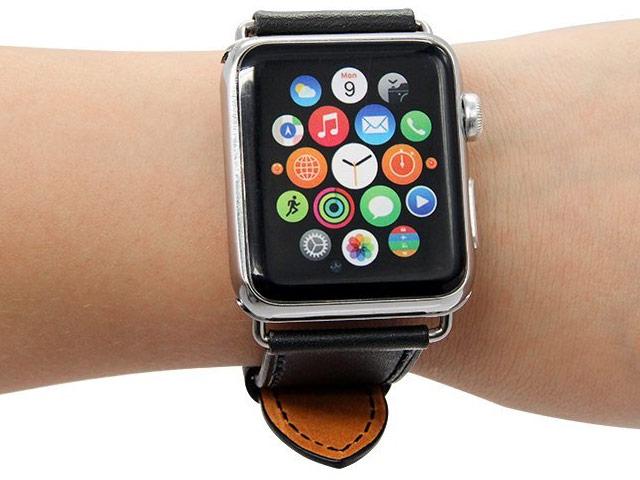 Ремешок для часов Synapse Single Tour Band для Apple Watch (42 мм, черный, кожаный)