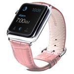 Ремешок для часов Synapse Croco Band для Apple Watch (42 мм, розовый, кожаный)