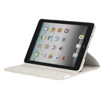 Чехол Yotrix FlipCase для Apple iPad 2/new iPad (кожанный, белый)