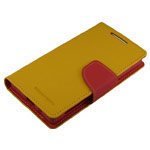 Чехол Mercury Goospery Fancy Diary Case для Sony Xperia Z5 compact (желтый, винилискожа)