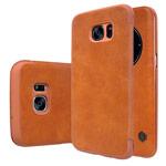 Чехол Nillkin Qin leather case для Samsung Galaxy S7 edge (коричневый, кожаный)