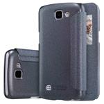 Чехол Nillkin Sparkle Leather Case для LG K4 (темно-серый, винилискожа)