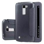 Чехол Nillkin Sparkle Leather Case для LG K10 (темно-серый, винилискожа)