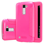 Чехол Nillkin Sparkle Leather Case для LG K10 (розовый, винилискожа)