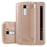 Чехол Nillkin Sparkle Leather Case для LG K10 (золотистый, винилискожа)