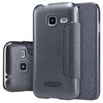 Чехол Nillkin Sparkle Leather Case для Samsung Galaxy J1 mini 2016 (темно-серый, винилискожа)