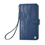 Кошелек Just Must Wallet Loha Collection (синий, кожаный, валютник, размер M)