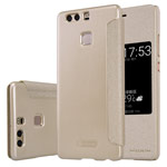 Чехол Nillkin Sparkle Leather Case для Huawei P9 (золотистый, винилискожа)