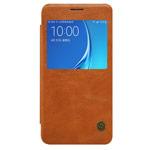 Чехол Nillkin Qin leather case для Samsung Galaxy J7 2016 J710 (коричневый, кожаный)