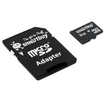 Флеш-карта SmartBuy microSDHC (8Gb, microSD, Class 10, SD-адаптер)