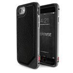 Чехол X-doria Defense Lux для Apple iPhone 7 (Black Leather, маталлический)