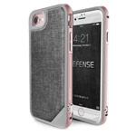 Чехол X-doria Defense Lux для Apple iPhone 7 (Rose Gold Grey Fabric, маталлический)