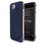 Чехол X-doria Defense Lux для Apple iPhone 7 (Blue and Gold, маталлический)