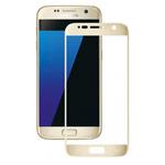 Защитная пленка Yotrix 3D Glass Protector для Samsung Galaxy S7 (стеклянная, золотистая)