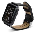 Ремешок для часов X-Doria Band Lux для Apple Watch (38 мм, черный, кожаный)