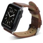 Ремешок для часов X-Doria Band Lux для Apple Watch (38 мм, коричневый, кожаный)