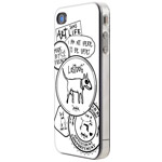 Чехол The LostDog 2011 для Apple iPhone 4 (белый с узором)