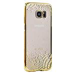 Чехол X-doria Floating Rhombus для Samsung Galaxy S7 edge (золотистый, пластиковый)