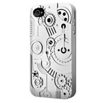 Чехол SwitchEasy Clockwork для Apple iPhone 4/4S (серебристый, пластиковый)