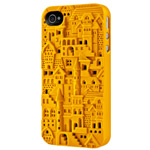 Чехол SwitchEasy Chateau для Apple iPhone 4/4S (желтый, пластиковый)