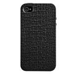 Чехол SwitchEasy Reptile для Apple iPhone 4/4S (черный, кожанный)