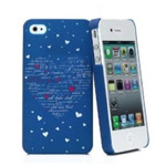 Чехол KissKin Doodle Back case для Apple iPhone 4/4S (Night Heart, пластиковый)