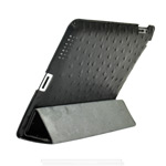 Чехол Discovery Buy Vibrant Collection для Apple iPad 2/New iPad (черный, кожанный)