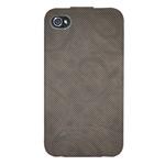 Чехол Discovery Buy Cowboy Style Flip для Apple iPhone 4/4S (темно-серый, кожанный)