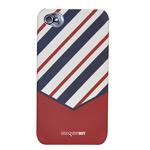 Чехол Discovery Buy Tie Matte Case для Apple iPhone 4/4S (темно-красный, пластиковый)