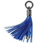 USB-кабель Remax Tassels Ring Cable (Lightning, 0.2 м, брелок, синий)