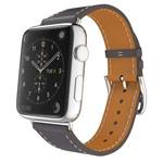 Ремешок для часов Synapse Single Tour Band для Apple Watch (38 мм, серый, кожаный)