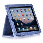 Чехол X-doria Dash Folio Denim case для Apple iPad 2/New iPad (фиолетовый, кожанный)