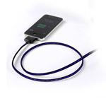 USB-кабель Dexim Visible Green для Apple iPad/iPhone/iPod (с индикацией) (черный/фиолетовый)