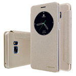 Чехол Nillkin Sparkle Leather Case для Samsung Galaxy Note 7 (золотистый, винилискожа)
