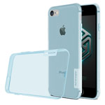 Чехол Nillkin Nature case для Apple iPhone 7 (голубой, гелевый)