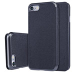Чехол Nillkin Sparkle Leather Case для Apple iPhone 7 (темно-серый, винилискожа)